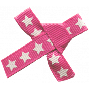 Bow 179 Pink Stars- Ribbons #014
