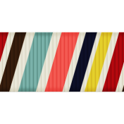 Medium Ribbon- Stripes- White & Brown