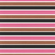 Mexico- Striped Paper- Brown, Black & Pink