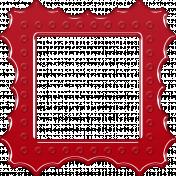 Red Plastic Frame