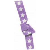 Bow 180 Purple Stars- Ribbons #014