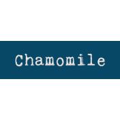 Word Bit: Chamomile- Tea Cup