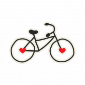 Bicycle Sticker- City Bicycle