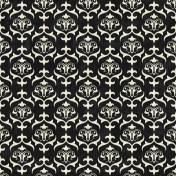 Damask 18- Black & White