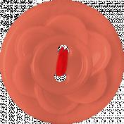 Red Flower Button