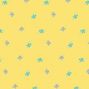 City Bicycle- Floral Paper- Yellow