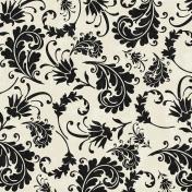 Floral 77- Black & White