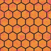 Geometric 22- Black & Orange
