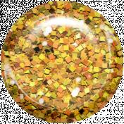 Boo! Glitter Brad- Orange 2