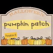 Pumpkin Patch Tag