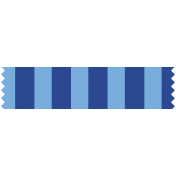 World Cup Washi Tape- Blue Stripes