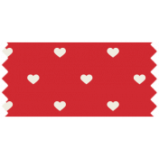 World Cup Washi Tape- Red Hearts