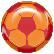 World Cup Bard Soccer Ball- Orange & Red