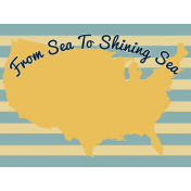 Road Trip Journal Card- From Sea To Shining Sea