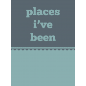 Road Trip Journal Card- Places I've Been
