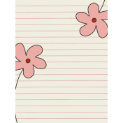 Road Trip Journal Card- Flowers