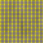 Plaid Paper 07- Yellow & Navy