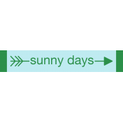 Sweet Summer- Sunny Days (L) Label