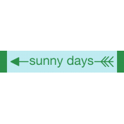 Sweet Summer- Sunny Days (R) Label