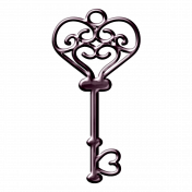 Purple Metal Key
