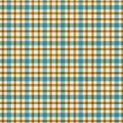 Plaid Paper 10- Teal & Mustard