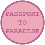 Cruising Elements- Passport To Paradise Label