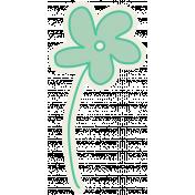 Road Trip- Teal Flower Sticker