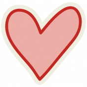 Road Trip- Red Heart Sticker