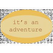 Road Trip- Adventure Label