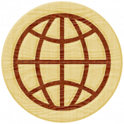 Road Trip- Globe Wood Coin