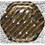 Hexagon Glitter Brad- Brown