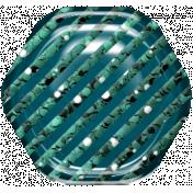 Hexagon Glitter Brad- Teal