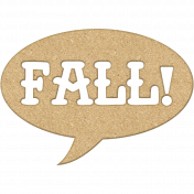 Fall Chipboard Talk Bubble