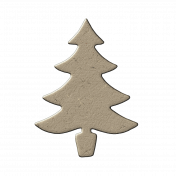 Chipboard Christmas Tree