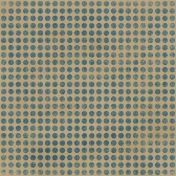 Polka Dots 06- Tan & Blue