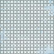 Geometric 08- Blue & Black