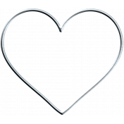 Garden Party Heart - Wire