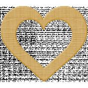 Garden Party Heart- Wood