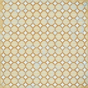 Quatrefoil 01- Brown & Blue