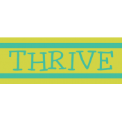 Garden Party Label- Thrive
