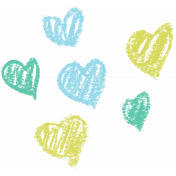 Garden Party Hearts- Blue & Green