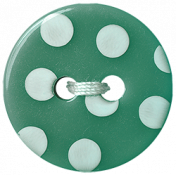 Garden Party Button- Green Polkadot