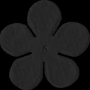Paper Flower 09- Black