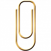 Gold Paper Clip 2