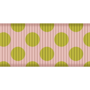 Medium Ribbon- Polka Dots 02- Green & Pink