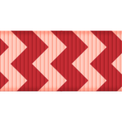 Medium Ribbon- Chevron- Pink