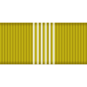 Medium Ribbon- Stripes- Green