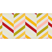 Fat Ribbon- Chevron- White