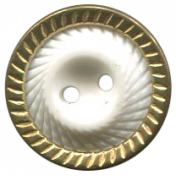 Arabia Button- Ridged