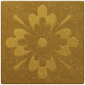 Arabia Gold Square Flower